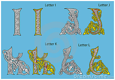Alphabet celtique antique