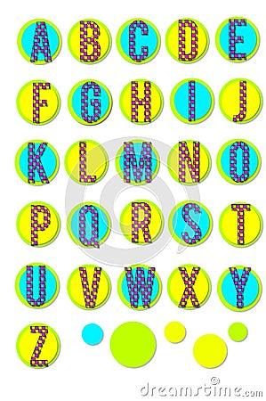 Alphabet Colored Checks