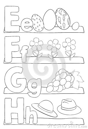 Alphabet Coloring Page Letters