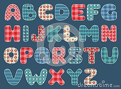 Alphabet d édredon.