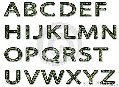 alphabet d 39 herbe verte illustration stock image 49405685. Black Bedroom Furniture Sets. Home Design Ideas