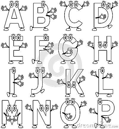 Alphabet De Dessin Anim 233 De Coloration 1 Photographie