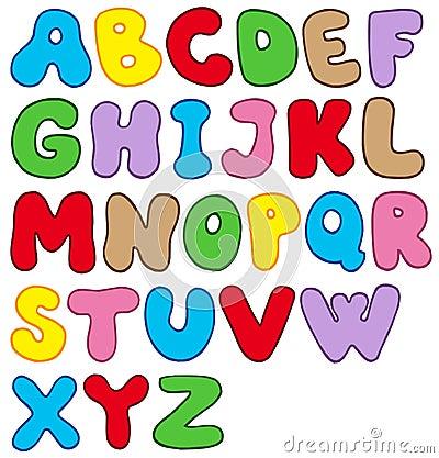 Alphabet de dessin animé