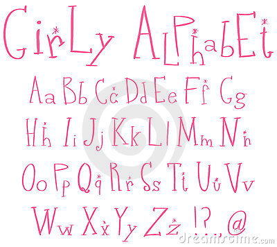 Alphabet de Girly