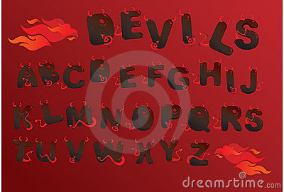 Alphabet demons letters