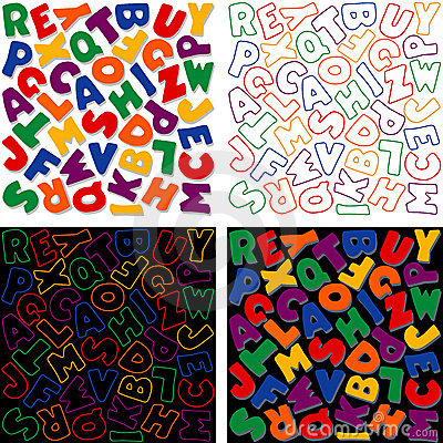 Alphabet Designs, four Versions
