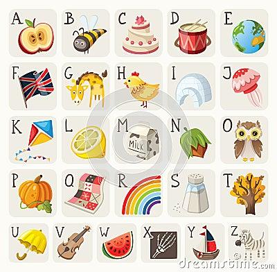 Free Alphabet For Children Stock Photos - 38744263