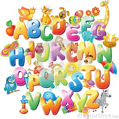 Free Alphabet For Kids With Pictures Stock Images - 44385834