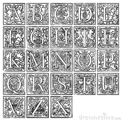 Free Alphabet From 16th Century Royalty Free Stock Images - 6909979