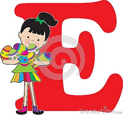 Alphabet Girl E