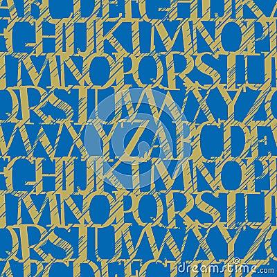 Alphabet grunge (seamless vect