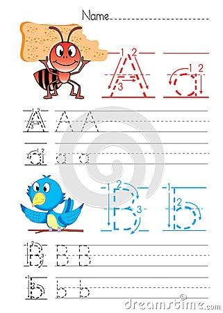 Free Alphabet Handwriting A B Stock Photography - 34056332