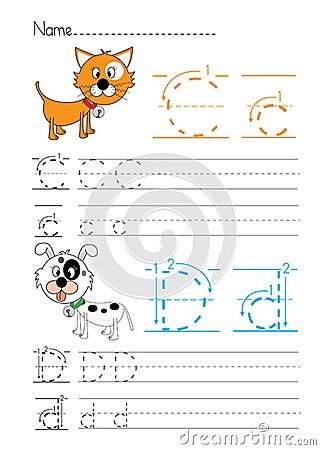 Free Alphabet Handwriting C D Stock Image - 33809291