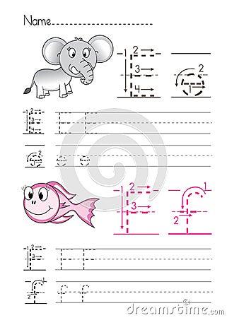 Free Alphabet Handwriting E F Stock Photos - 33809293