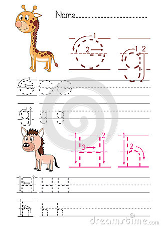 Free Alphabet Handwriting G H Stock Images - 33809294
