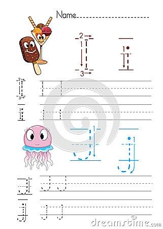 Free Alphabet Handwriting I J Royalty Free Stock Photography - 33809297
