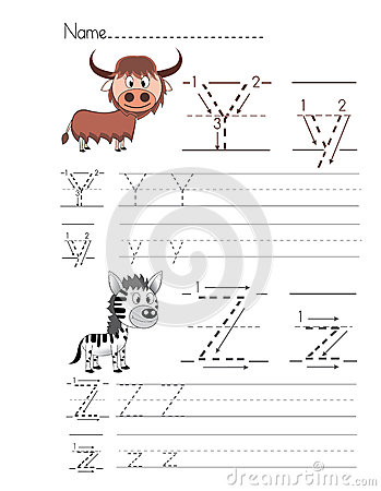 Free Alphabet Handwriting Y Z Royalty Free Stock Image - 33809326