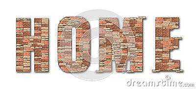 Alphabet à la maison de configuration de brique de symbole