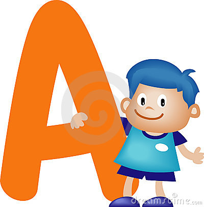 Free Alphabet Letter A (boy) Royalty Free Stock Photography - 900457