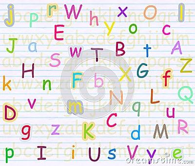Alphabet letter background