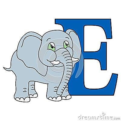 Alphabet letter E