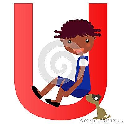 Alphabet letter Ugirl)
