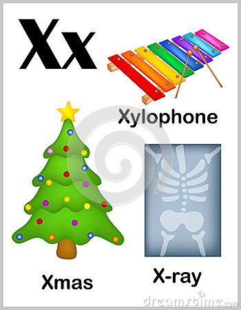 Worksheets X Words For Kids flashcard letter x is for ray stock vector image 67727388