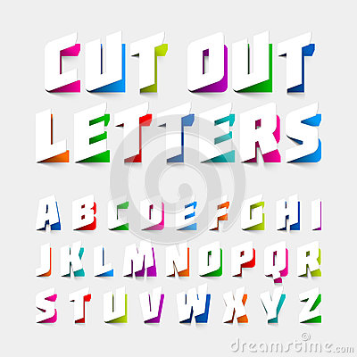 Free Alphabet Letters Cut Out From Paper Royalty Free Stock Photo - 56702035