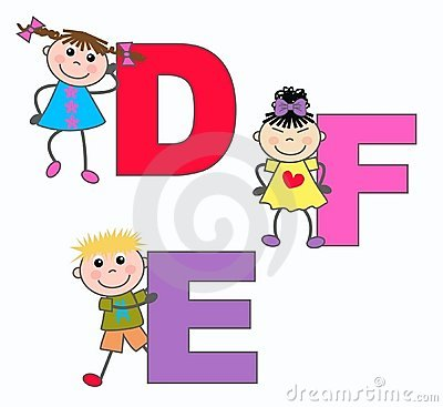 Alphabet Letters D E F Stock Photo - Image: 15830560