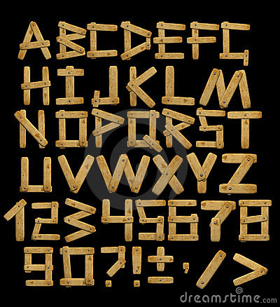 Free Alphabet - Letters From Wooden Boards With Rivets Stock Images - 4641814