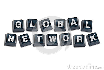 Alphabet Letters Global Network Concept.
