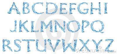 Alphabet Made Of Frozen Water Stock Images - Image: 15320234