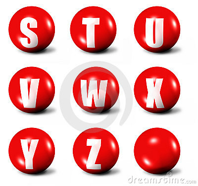 Free Alphabet Made Of Red 3D Spheres Royalty Free Stock Photos - 6681288