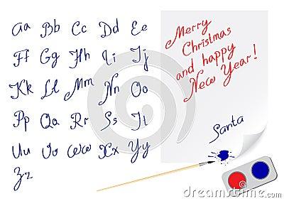 Alphabet marry christmas
