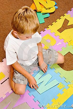 Alphabet mat cutout