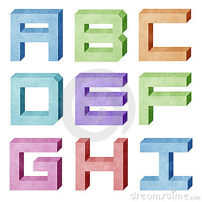 Alphabet number recycled paper craft