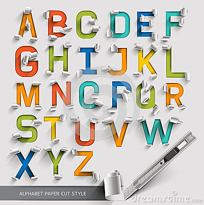 Free Alphabet Paper Cut Colorful Font. Royalty Free Stock Image - 41737116