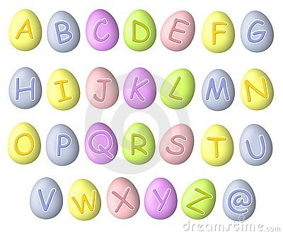 Alphabet Pastel Easter Egg Fonts