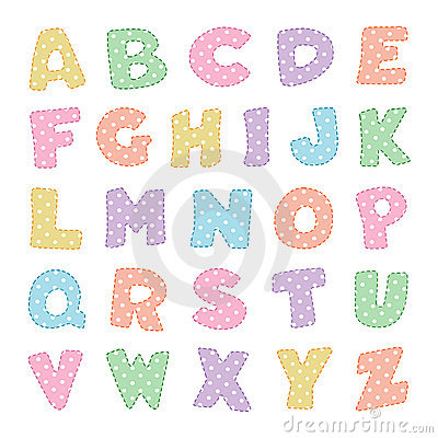 Alphabet With Pastel Polka Dots Stock Photography - Image: 12754212