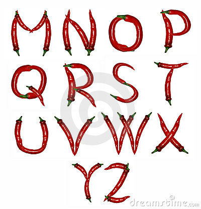 Alphabet of peppers