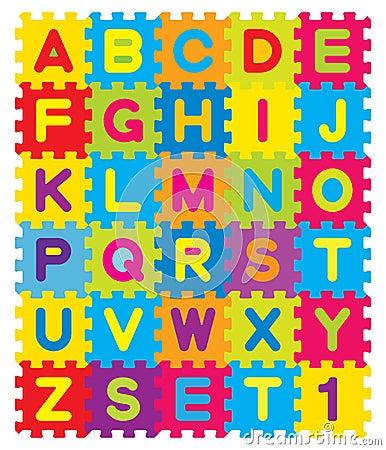 Free Alphabet Puzzle Royalty Free Stock Photos - 14403278