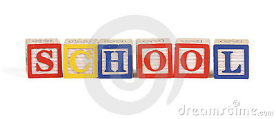 Alphabet school blocks