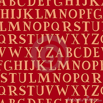 Alphabet (seamless vector wall