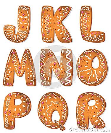 Alphabet set letters J_R