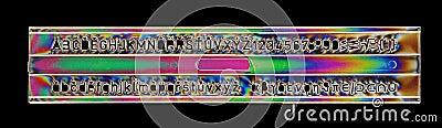 Alphabet stencil ruler