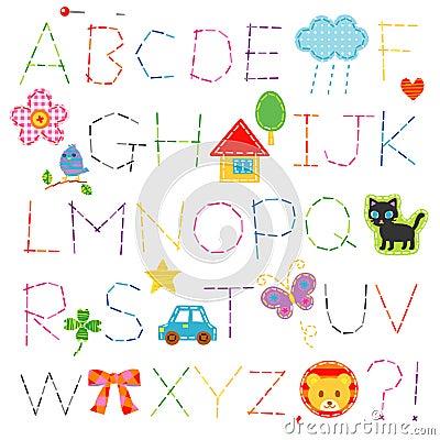 Alphabet stitch