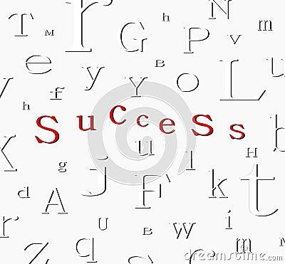 Alphabet success background