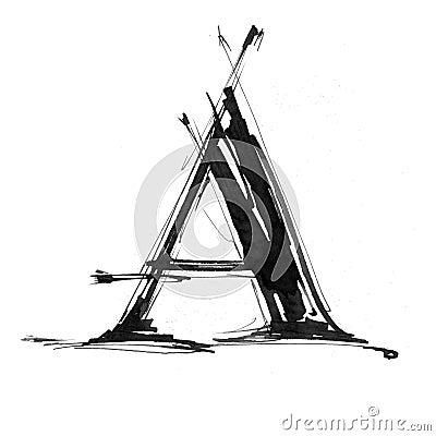 Alphabet symbol - letter A