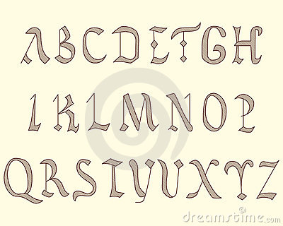 Alphabet Vatican in eighth century style