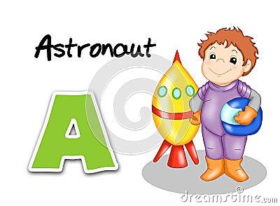 Alphabet workers - astronaut